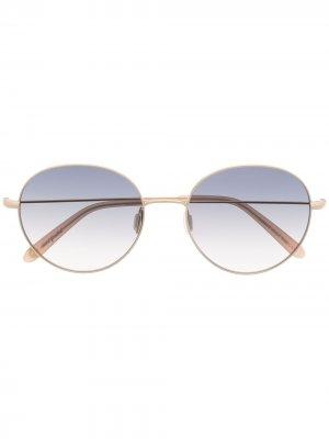 Солнцезащитные очки с эффектом градиента Garrett Leight. Цвет: золотистый