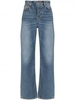Джинсы Tuff Tony широкого кроя Nudie Jeans. Цвет: синий