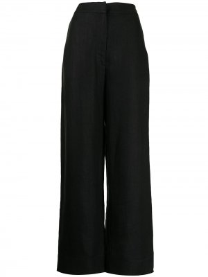 Прямые брюки с завышенной талией BONDI BORN. Цвет: черный