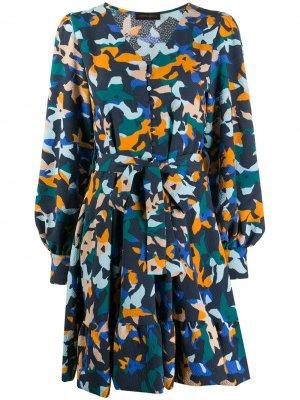 Платье мини с принтом Farrow Stine Goya. Цвет: зеленый