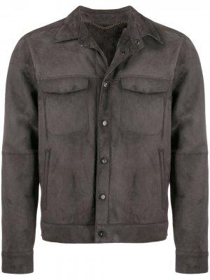 Куртка с карманами Ajmone. Цвет: серый