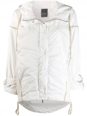 Куртка-дождевик с капюшоном Lorena Antoniazzi. Цвет: белый