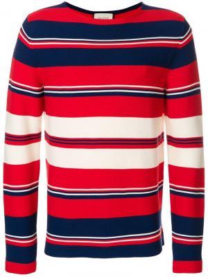 Полосатый свитер Gucci. Цвет: разноцветный