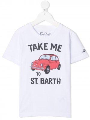 Футболка Take Me Mc2 Saint Barth Kids. Цвет: белый