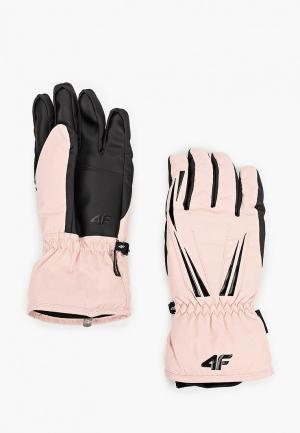 Перчатки горнолыжные 4F. Цвет: розовый