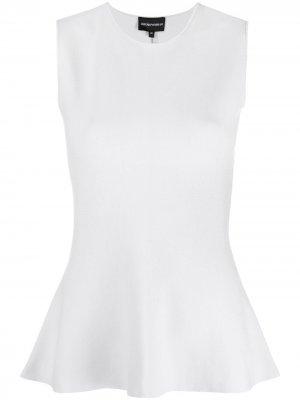 Блузка с баской Emporio Armani. Цвет: серый
