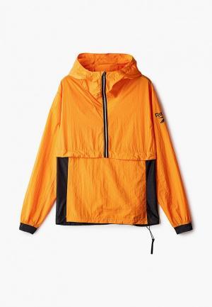 Куртка спортивная Reebok. Цвет: оранжевый