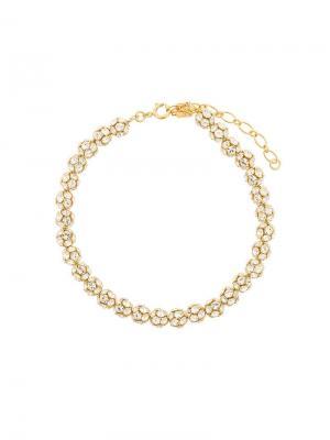 Eva necklace with crystal balls Ca&Lou. Цвет: золотистый