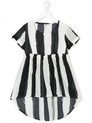 Полосатое платье свободного кроя Noé & Zoe. Цвет: черный