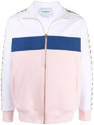 Спортивная куртка в стиле колор-блок Casablanca. Цвет: розовый