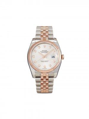 Наручные часы Datejust pre-owned 36 мм 2008-го года Rolex. Цвет: серебристый