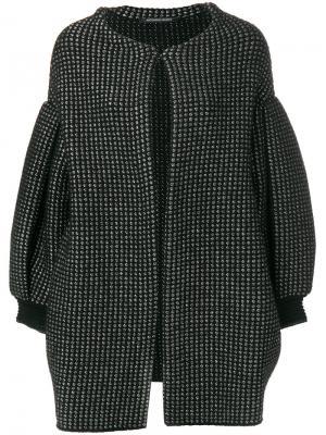 Объемное пальто Antonino Valenti. Цвет: черный