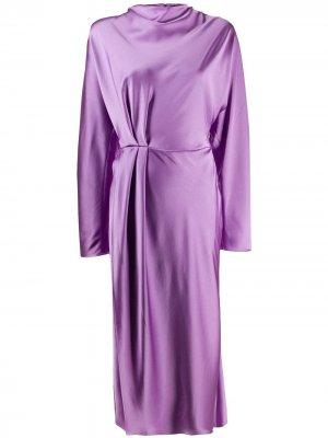Платье с завязками Stine Goya. Цвет: фиолетовый