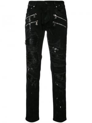 Gods Masterful Children джинсы кроя слим с рваными деталями God's. Цвет: черный