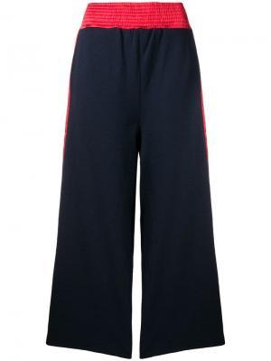 Широкие спортивные брюки с боковыми полосками Tsumori Chisato. Цвет: синий