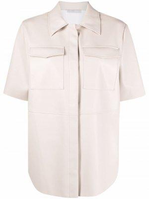 Рубашка с нагрудными карманами 12 STOREEZ. Цвет: серый