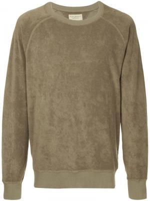Толстовка свободного кроя Nudie Jeans Co. Цвет: зеленый