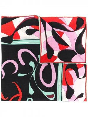 Платок Alex с принтом и логотипом Emilio Pucci. Цвет: красный
