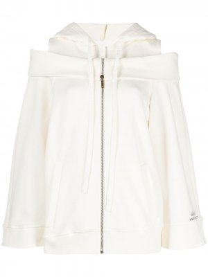 Куртка с капюшоном Alberta Ferretti. Цвет: белый