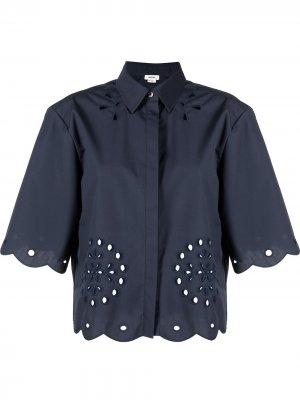 Рубашка с английской вышивкой Jason Wu. Цвет: синий