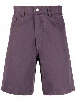 Джинсовые шорты с нашивкой-логотипом Carhartt WIP. Цвет: фиолетовый