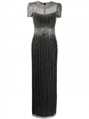 Платье с кристаллами Jenny Packham. Цвет: черный