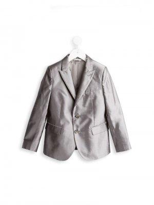 Классический блейзер Dolce & Gabbana Kids. Цвет: серый