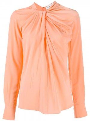 Блузка со сборками Victoria Beckham. Цвет: оранжевый