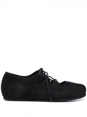 Балетки на шнуровке Birkenstock. Цвет: черный