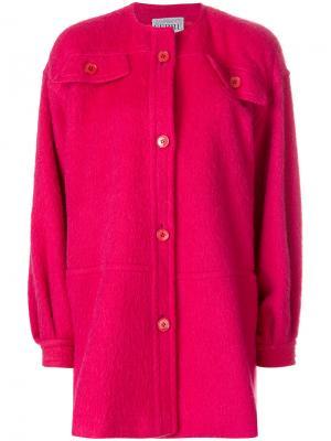 Пальто шифт без воротника Gianfranco Ferré Pre-Owned. Цвет: розовый