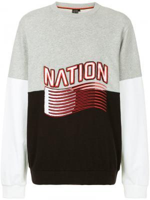 Свитшот Foul Play P.E Nation. Цвет: серый