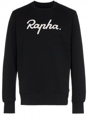 Толстовка с вышитым логотипом Rapha. Цвет: черный