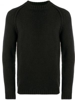Джемпер с круглым вырезом Ten C. Цвет: черный