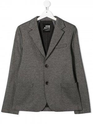 Пиджак в ломаную клетку Paolo Pecora Kids. Цвет: серый