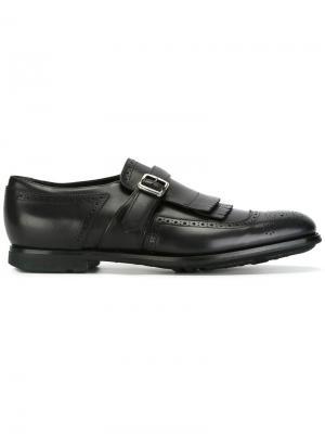 Туфли-монки с бахромой Church's. Цвет: черный