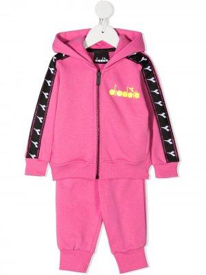 Спортивный костюм с логотипом Diadora Junior. Цвет: розовый