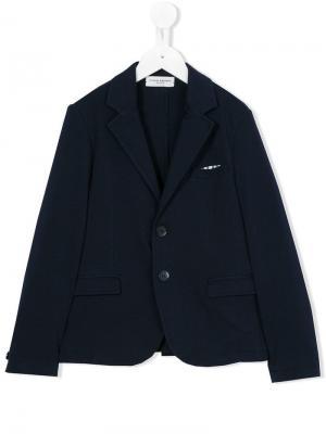 Пиджак с застежкой на две пуговицы Paolo Pecora Kids. Цвет: синий