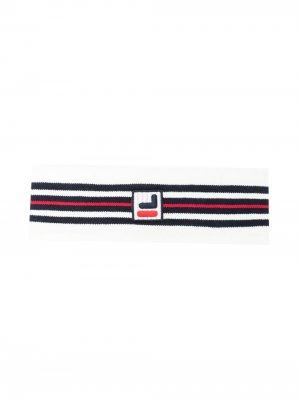 Полосатая повязка на голову с логотипом Fila. Цвет: белый