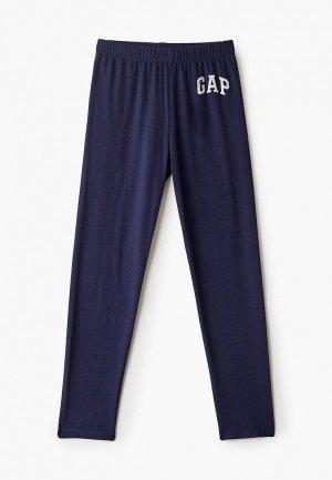 Леггинсы Gap. Цвет: синий