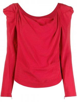 Драпированная блузка Elizabeth с длинными рукавами Vivienne Westwood. Цвет: красный
