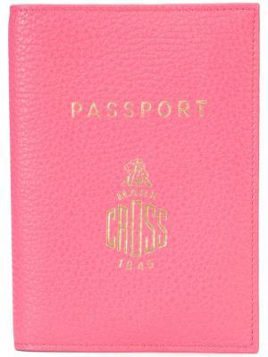 Обложка для паспорта Mark Cross. Цвет: розовый