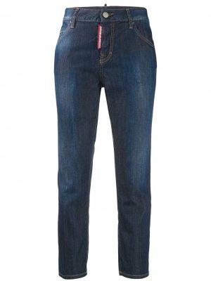 Укороченные джинсы герлфренд Dsquared2. Цвет: синий