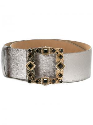 Реень с декорированной пряжкой Dolce & Gabbana. Цвет: серый