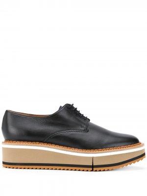 Туфли на платформе со шнуровкой Clergerie. Цвет: черный