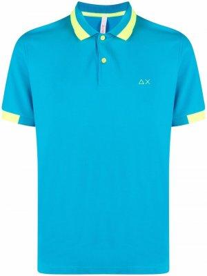 Рубашка поло с вышивкой Sun 68. Цвет: синий