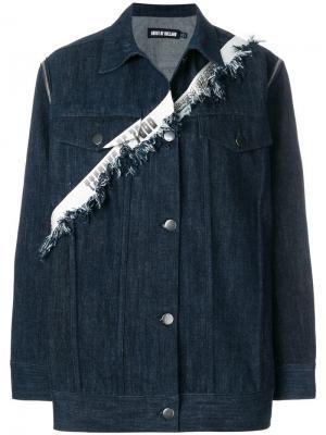 Taped oversized denim jacket House Of Holland. Цвет: синий