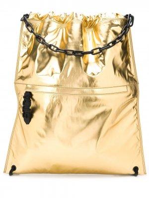 Рюкзак с кулиской Just Cavalli. Цвет: золотистый