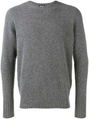 Классический свитер Drumohr. Цвет: серый