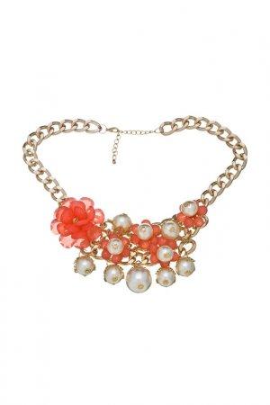 Ожерелье Victoria Le Land. Цвет: коралловый