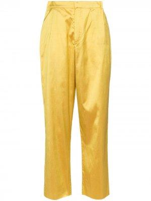 MarquesAlmeida брюки прямого кроя с завышенной талией Marques'Almeida. Цвет: желтый